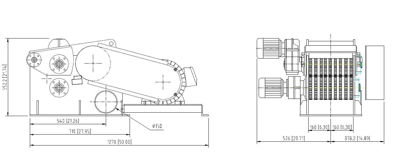 HT 30-25-2 3D technical drawing