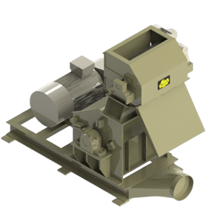 Scanhugger re-shredder in 3D view made for shredding wood into material for briquittes and pellet production